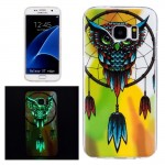 For Samsung Galaxy S7 Edge / G935 Noctilucent Owl Pattern IMD Workmanship Soft TPU Protective Case