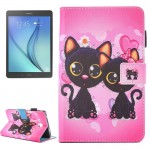 For Samsung Galaxy Tab A 7.0 (2016) / T280 Lovely Cartoon Cat Couple Pattern Horizontal Flip Leather Case with Holder & Card Slo