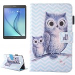 For Samsung Galaxy Tab A 7.0 (2016) / T280 Lovely Cartoon Wave Owl Pattern Horizontal Flip Leather Case with Holder & Card Slots