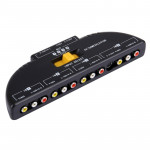 AV4-SVIDEO Multi Box RCA AV Audio-Video Signal Switcher + 3 RCA Cable, 4 Group Input and 1 Group Output System(Black)