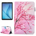 For Samsung Galaxy Tab E 8.0 / T377 Peach Blossom Pattern Horizontal Flip Leather Case with Holder & Card Slots & Pen Slot