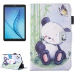 For Samsung Galaxy Tab E 8.0 / T377 Lovely Cartoon Panda Pattern Horizontal Flip Leather Case with Holder & Card Slots & Pen Slo