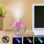 Humidificateur d'Air rose Diffuseur ultrasonique d'humidificateur de style de Piggy alimenté par USB avec le commutateur de c...