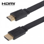 1.4 Version, Gold Plated HDMI to HDMI 19Pin Flat Cable, Support HD TV / XBOX 360 / PS3 / Projector / DVD Player etc, Length: 1.5