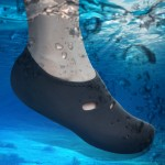 Comfortable and anti-slip 3MM swimming diving socks breathable water to swim the beach socks Size:XXL (44)(Black)