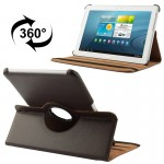 360 Degree Rotatable Litchi Texture Leather Case with Holder for Samsung Galaxy Tab 2 (10.1) / P5100(Brown)
