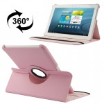 360 Degree Rotatable Litchi Texture Leather Case with Holder for Samsung Galaxy Tab 2 (10.1) / P5100(Pink)