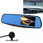 G20 HD 1080P 4.3 inch Screen Display Vehicle DVR with Reversing Camera, Generalplus 2248 Programs, 170 Degree Wide Angle Viewing