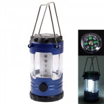 12 LED Adjustable Brightness Camping Lamp with Compass (Dark Blue)