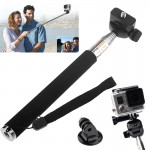 ST-55 Extendable Pole Monopod with Tripod Mount Adapter for Gopro HERO4 / 3+ / 3 / 2 / 1(Black)