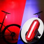 AQY-096 IPX4 Detachable USB Rechargeable Dual Color LED Bike Taillight (Blue & Red)