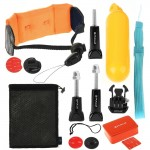 Kit d'accessoire pour 14 en 1 Gopro HERO6 / 5/5 Session / 4 Session / 4/3 + / 3/2/1, Xiaomi et autres caméras d'action Accessoires Combo Bobber Hand Grip + Éponge Flottante + Boucle à Déclenchement Rapide + Support de Surf Board + Dragonne + Sangle de Séc