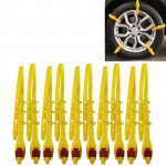 10 PCS Car Snow Tire Anti-skid Chains Yellow Chains For Family Car