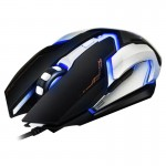 iMICE V6 LED Colorful Light USB 6 Buttons 3200 DPI Wired Optical Gaming Mouse for Computer PC Laptop(Black)