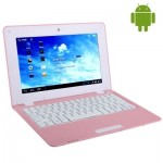 Ordinateur Portable Android 10,1 pouces 4.0 Notebook PC, 512 Mo + 4 Go, CPU: VIA WM8880 Dual Core cadencé à 1,5 GHz rose - w...