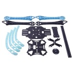 S500 Glass Fiber 4 Axis Aircraft Frame with High Landing Gear(Black and Blue)
