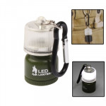 Mini 2-Mode White Light Camping Lantern with Carabiner Clip
