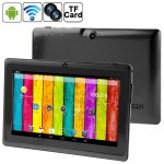 7.0 inch Android 4.2.2 Tablet PC, 360 Degree Menu Rotate, CPU: Allwinner A23, 1.2GHz(Black)