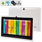 Tablette Tactile blanc 7 pouces Tactile, 512 Mo + 4 Go, Android 4.2.2, 360 degrés de rotation du menu, Allwinner A33 Quad-cor...