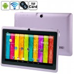 Tablette Tactile violet 7 pouces Tactile, 512 Mo + 4 Go, Android 4.2.2, 360 degrés de rotation du menu, Allwinner A33 Quad-co...