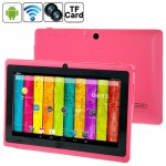 7.0 inch Android 4.2.2 Tablet PC, 360 Degree Menu Rotate, CPU: Allwinner A23, 1.2GHz(Magenta)
