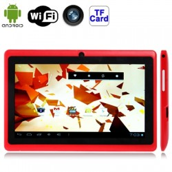 7 0 inch Android 4 2 2 Tablet PC, 360 Degree Menu Rotate, CPU: Allwinner  A23, 1 2GHz(Red)