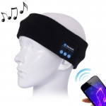 Knitted Bluetooth Headsfree Sport Music Headband with Mic for iPhone / Samsung and Other Bluetooth Devices (Black)