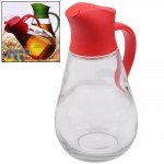 Automatic Lid Open Glass Oil Bottle (Red)