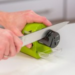 Swifty Sharp Cordless Electric Knife Sharpener with Catch Tray (Green)