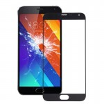 iPartsBuy Meizu MX5 Front Screen Outer Glass Lens(Black)