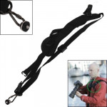 Safe & Fast Quick Rapid Camera Single Sling Strap with Strap Underarm Stabilizer(Black)