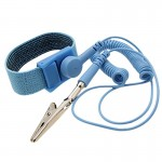 Anti-Static Static-free Wristband Wrist Strap Band ESD Discharge Grounding Tool(Baby Blue)
