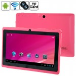 Tablette Tactile rose 7 pouces Tactile, 512 Mo + 8 Go, Android 4.0 360 degrés de rotation du menu, Allwinner A33 Quad Core, 1...