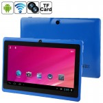 7.0 inch Tablet PC, 512MB+8GB, Android 4.0 360 Degree Menu Rotate, Allwinner A33 Quad Core, 1.5GHz(Blue)
