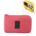 Shockproof Portable Digital Storage Pocket Travel Cosmetic Organizer Bag, Size: 22cm x 15cm x 3cm (Red)