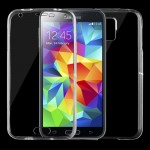 For Samsung Galaxy S5 / G900 0.75mm Double-sided Ultra-thin Transparent TPU Protective Case (Transparent)