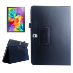 Lichee Texture Horizontal Flip Leather Case with Holder for Samsung Galaxy Tab S 10.5 / T800(Black)