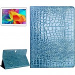 Crocodile Texture Flip Leather Case with Holder for Samsung Galaxy Tab S 10.5 / T800(Blue)