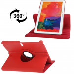360 Degree Rotatable Litchi Texture Leather Case with 2-angle Viewing Holder for Samsung Galaxy Tab Pro 10.1 / T520 (Scarlet Red