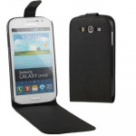 Vertical Flip Soft Leather Case for Samsung Galaxy Grand Duos / i9082(Black)