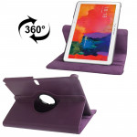 360 Degree Rotatable Litchi Texture Leather Case with 2-angle Viewing Holder for Samsung Galaxy Tab Pro 10.1 / T520 (Dark Purple