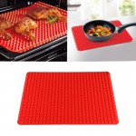 Tampon de barbecue en silicone rouge multi-fonction / alimentaire - Wewoo