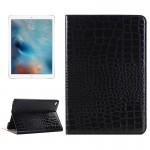 Crocodile Texture Horizontal Flip Leather Case with Holder & Card Slots & Wallet for iPad Pro 12.9 inch(Black)