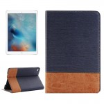 Cross & Sheepskin Texture Horizontal Flip Leather Case with Holder & Card Slots & Wallet for iPad Pro 12.9 inch(Dark Blue)