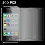 100 PCS 0.26mm 9H Surface Hardness 2.5D Explosion-proof Tempered Glass Screen Film for iPhone 4 & 4S
