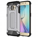 Coque renforcée Galaxy S6 Edge Samsung bord / G925 robuste armure TPU + Case Combinaison PC Gris - wewoo.fr