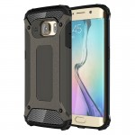 Coque renforcée Galaxy S6 Edge Samsung bord / G925 robuste armure TPU + Case Combinaison PC Bronze - wewoo.fr