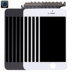 5 PCS Black + 5 PCS White iPartsBuy 4 in 1 for iPhone 5 (Front Camera + LCD + Frame + Touch Pad) Digitizer Assembly
