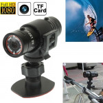 Caméra sport casque F9 Full HD 1080P Camera Action / vélo, support carte TF, 120 degrés Grand Angle - wewoo.fr