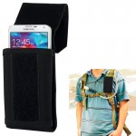 Stylish Outdoor Water Resistant Fabric Cell Phone Case, Size: approx. 17cm x 8.3cm x 3.5cm(Black)
